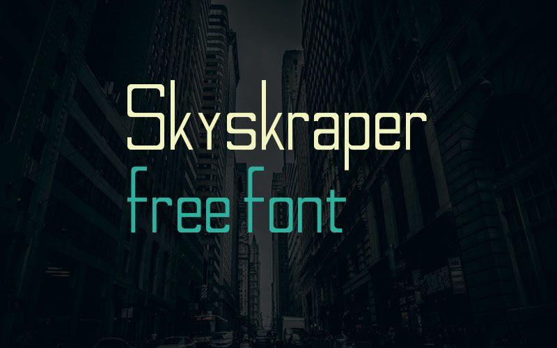 Skyskraper Regular font