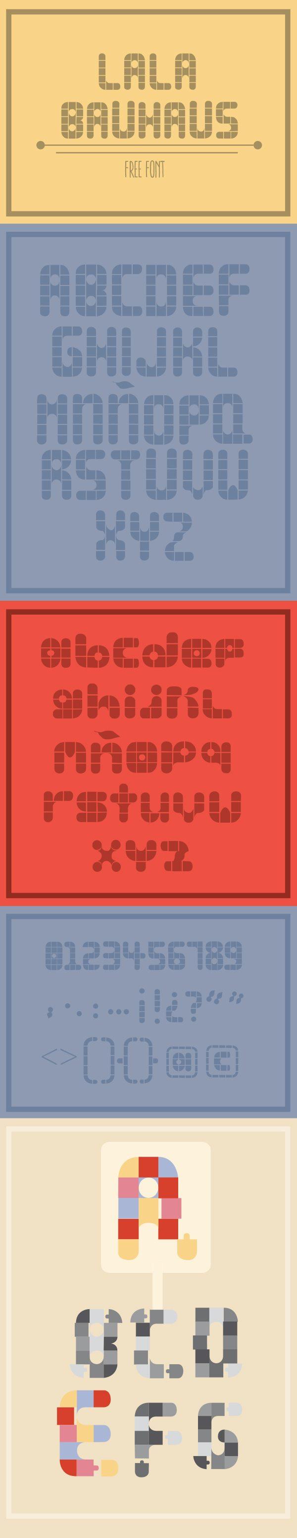 lala bauhaus font