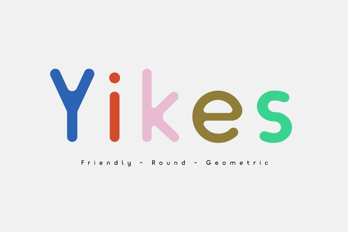Yikes_Medium font