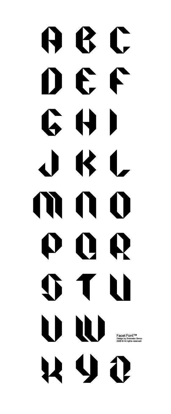 Facet Black font