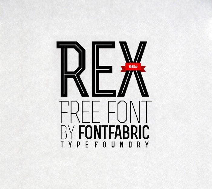 RexBold font