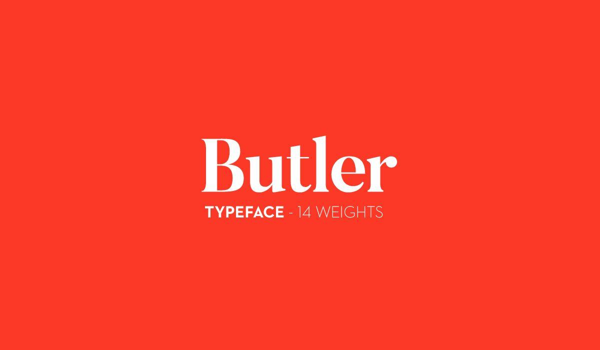Butler-Black font