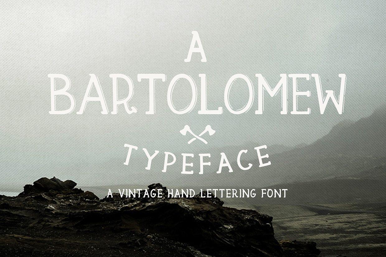 Bartolomew Printed font
