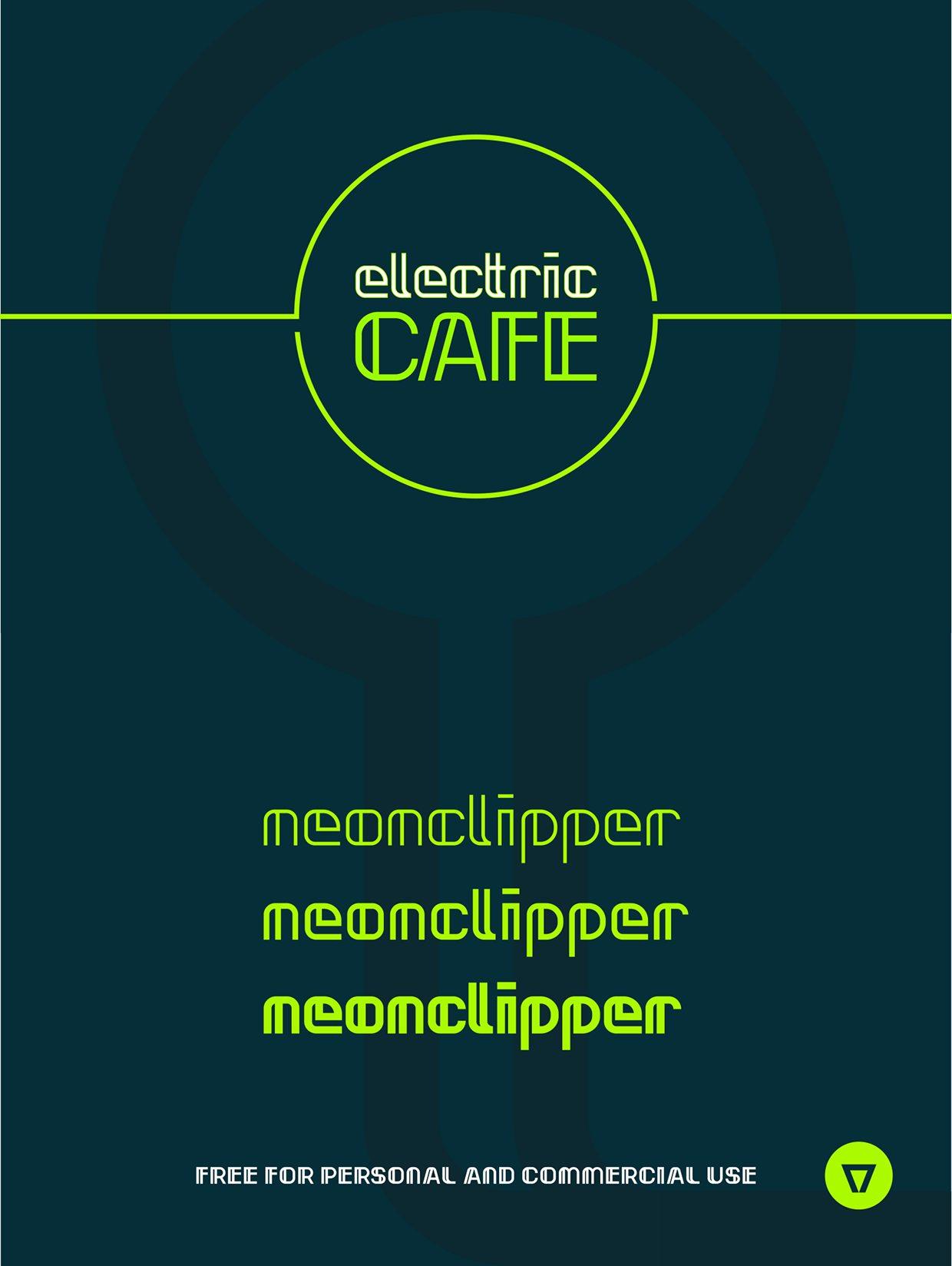 Neonclipper Light font