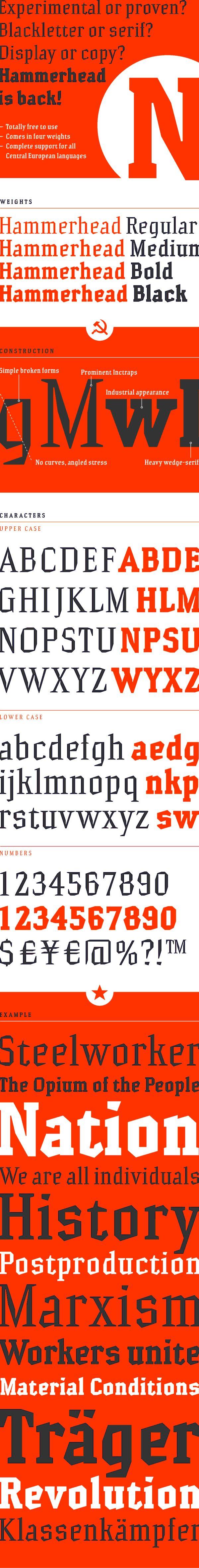 Hammerhead-Bold font