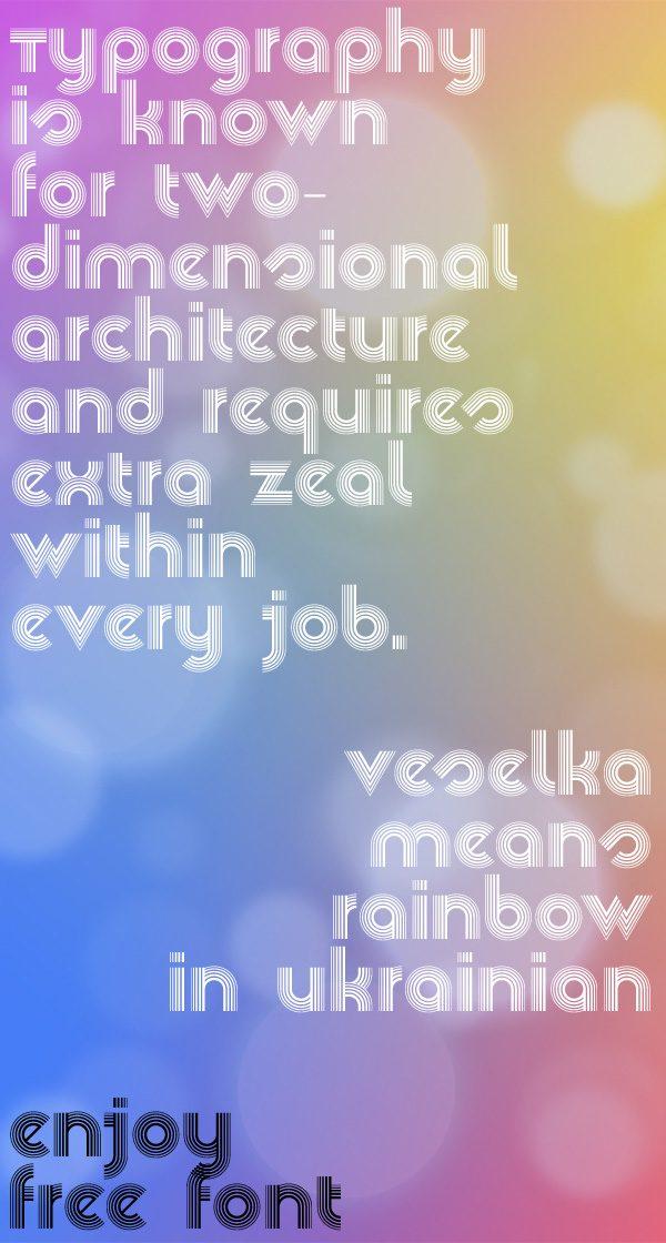 Veselka4F font