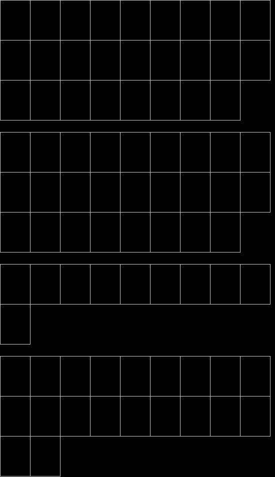 7LED font