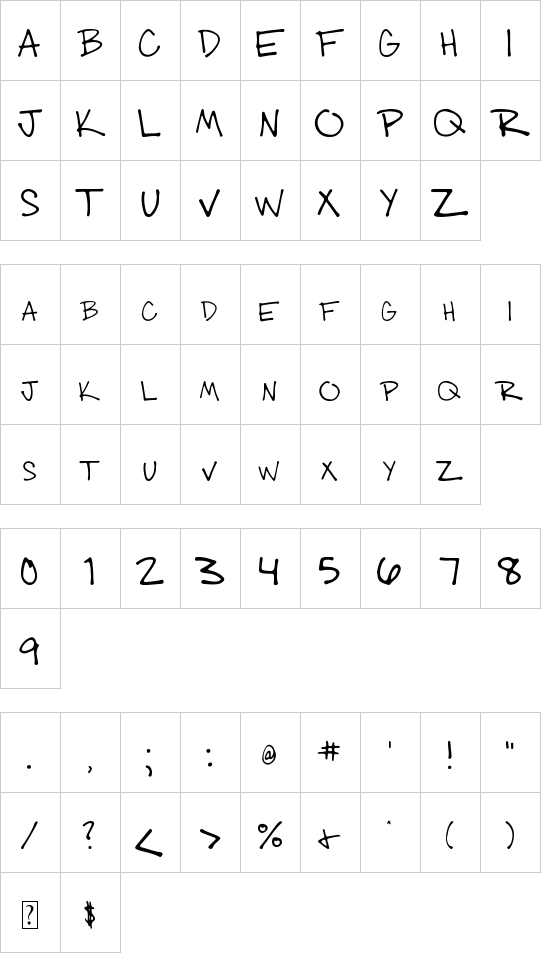 003 Engineer's Hand font