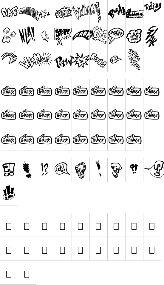 ONOMATOPAF font