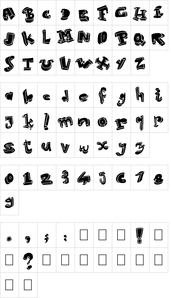 Strokeless font