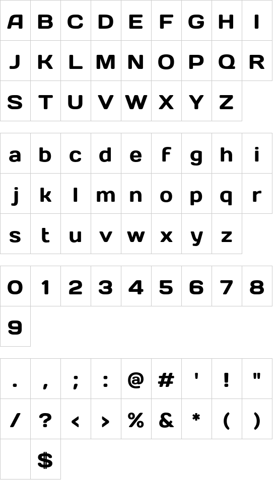 Days font