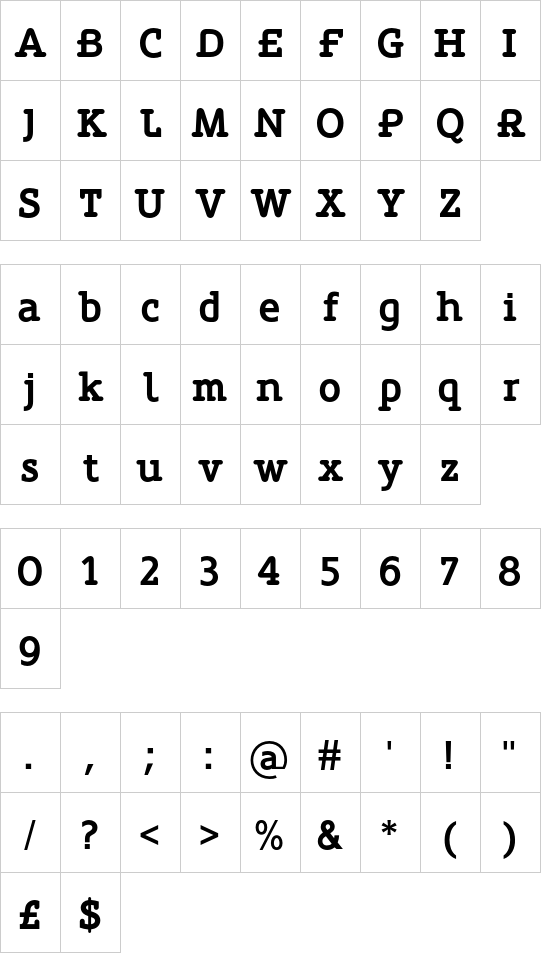 Oblik Serif Bold font