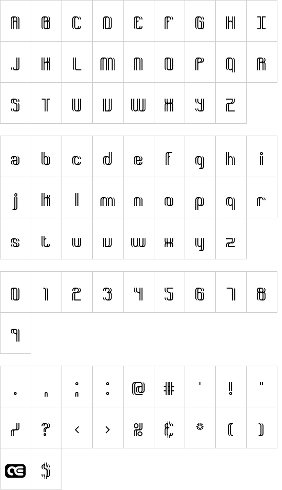 Dyphusion BRK font
