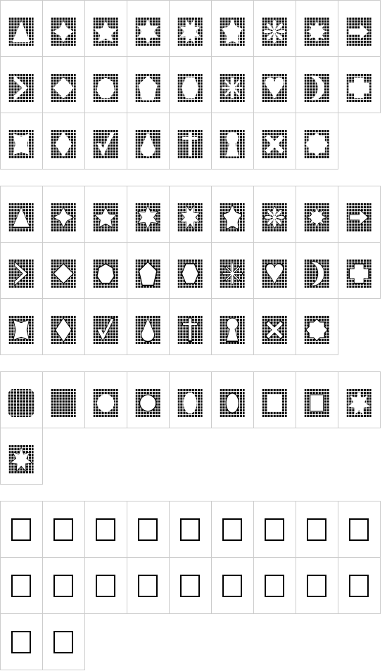 Grids n Things font