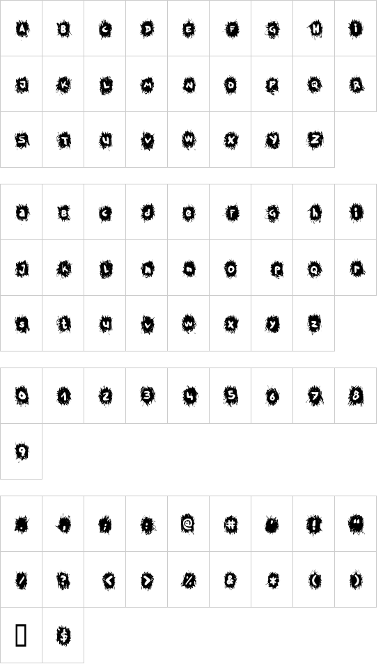 TPF Krikkel Krakkel font