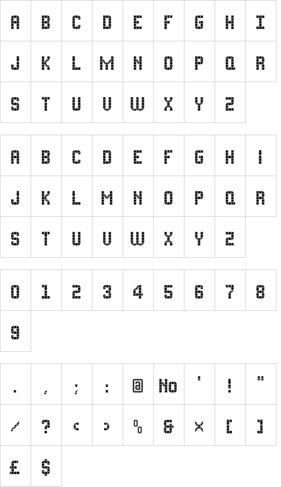 FLATPACK font