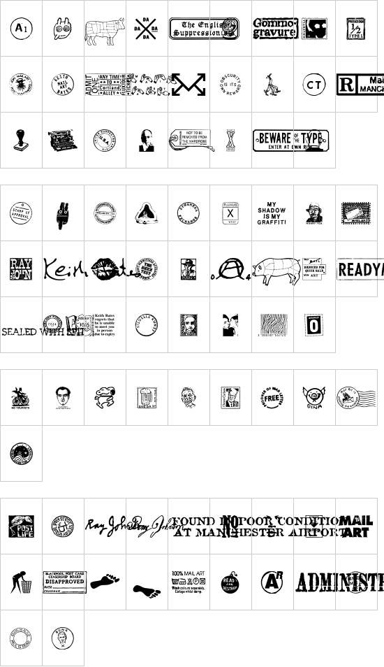 Mailart Graphics font