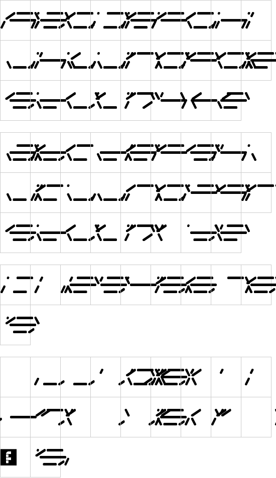 Fifteen Segment Rush font