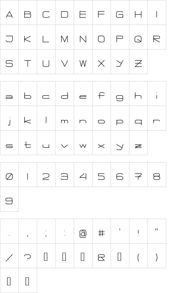 Flattie font