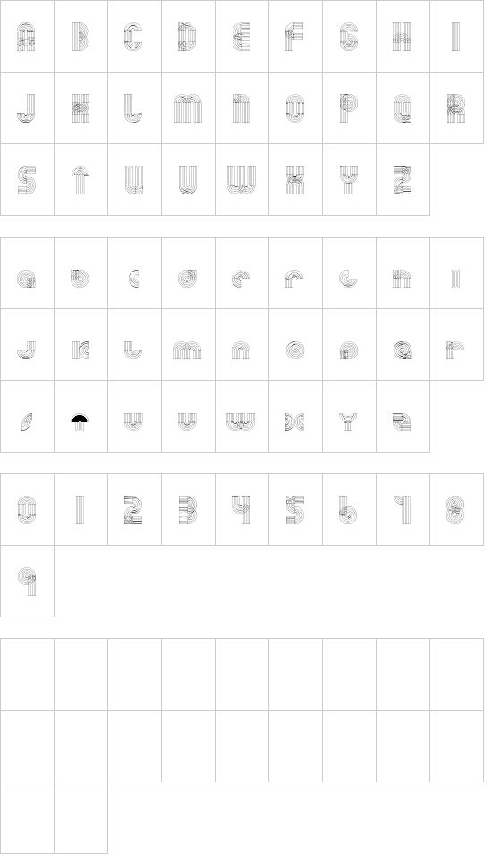 Orbits font