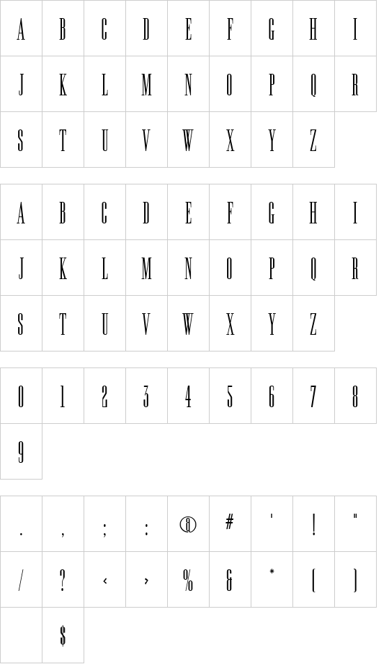 Longtall font
