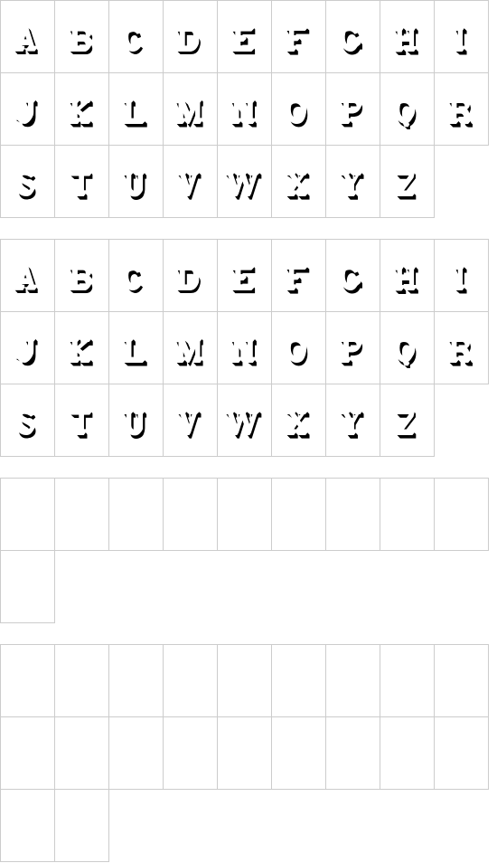 Monstre-CastShadow font