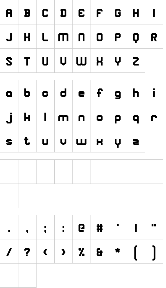 Square Block font