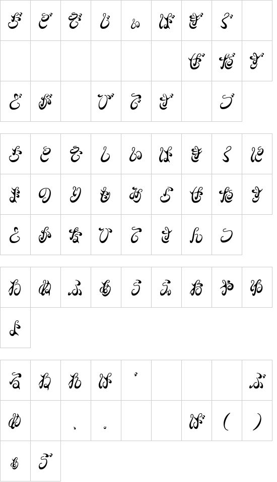 BDFlow-HKF font