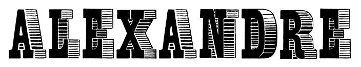 ALEXANDRE font