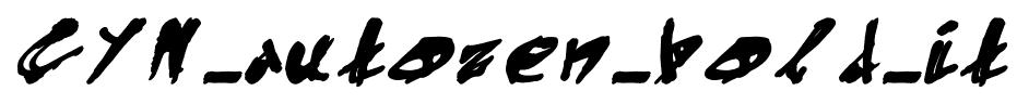 CYN_autozen_bold_it font