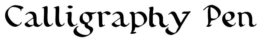 Calligraphy Pen font