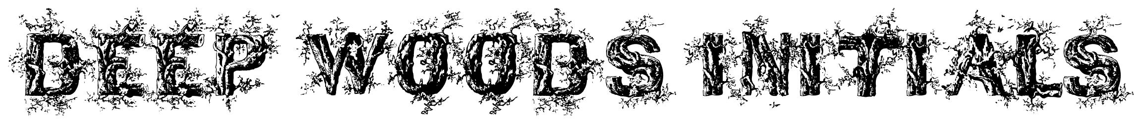 DEEP WOODS INITIALS font