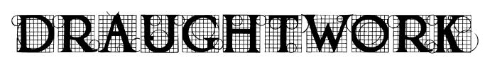 DRAUGHTWORK font