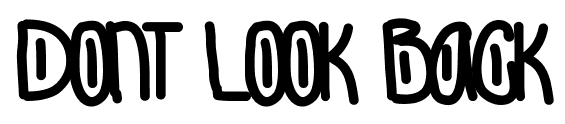 Dont Look Back font