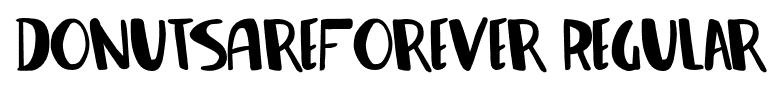 DonutsAreForever-Regular font