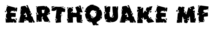 Earthquake MF font