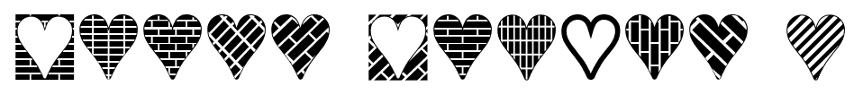 Heart Things 3 font
