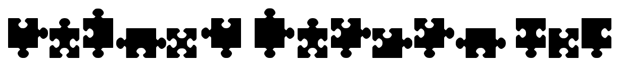Jigsaw Pieces TFB font