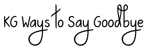 KG Ways to Say Goodbye font