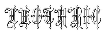 Leothric font