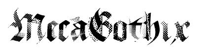 MecaGothix font