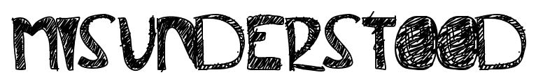Misunderstood font