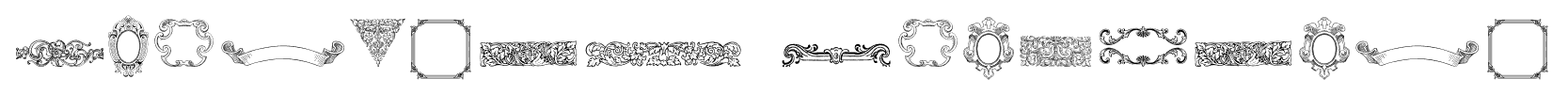 Mortised Ornaments font
