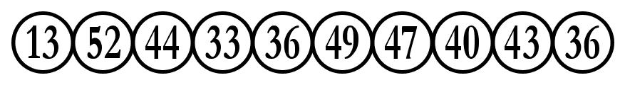 Numberpile font