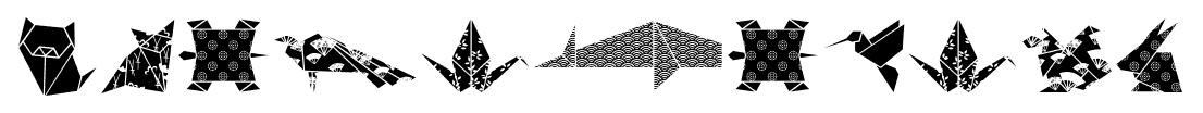 OrigamiBats font