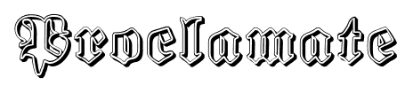 Proclamate font