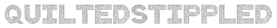 QuiltedStippled font