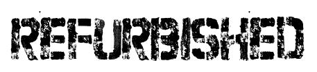 Refurbished font