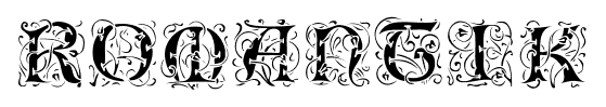 Romantik font