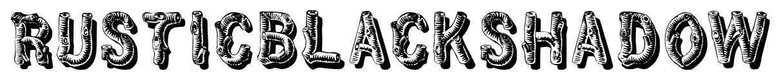 RusticBlackShadow font